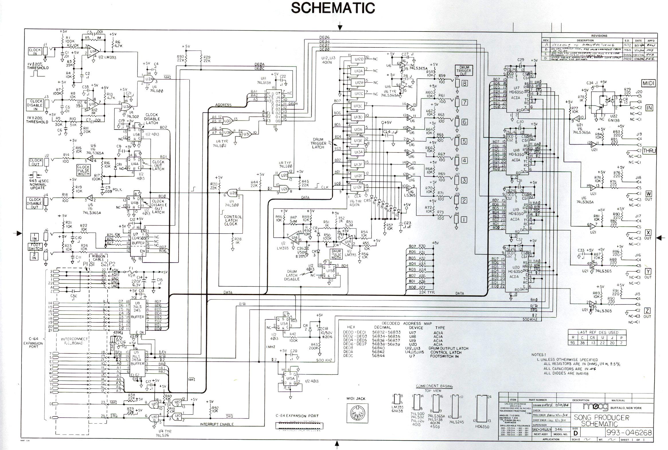 Synthfooldocsmoog Moog Taurus Schematics 2 Song Producer 908k