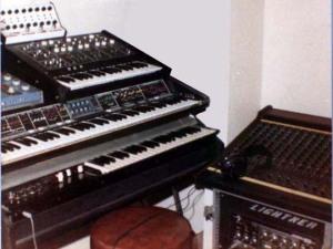 Kevin's keyboard setup circa 1980
